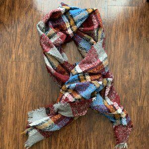 LIKE NEW plaid blanket scarf